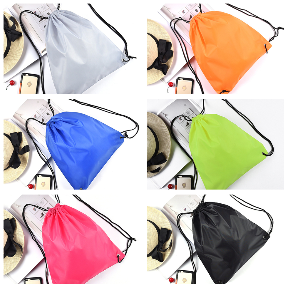 Travel Sport Drawstring Bag Fitness Yoga Exercise Backpack Cloth Shoes Back Pack Storage Unisex Lightweight Tow Bag Summer