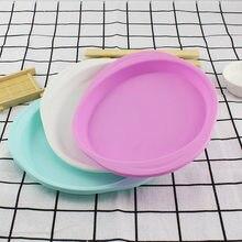 Kek kalıbı gıda sınıfı silikon yapışmaz dilim katmanlı bakeware şifon pişirme malzemeleri düz renk yuvarlak pişirme araçları