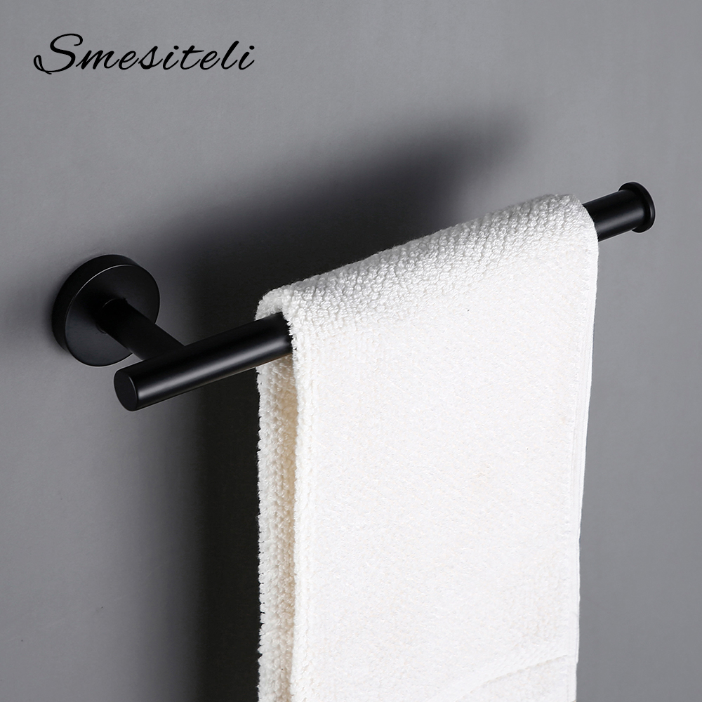 Towel Bar Paper Holder Polished Roll Gold 304 Stainless Steel Black In 4 Colors For Kitchen & Bathroom Accessories Kit