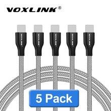 VOXLINK كابل يو اس بي 5 فولت 2.4A ل آيفون x xr xs 8Plus 8pin USB شحن كابل بيانات آيفون x 7Plus 6 6s 6Plus 6sPlus SE باد الهواء