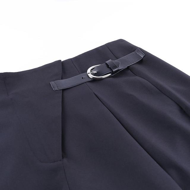 Black Casual Straight Suit Pants 5