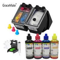 GraceMate 63 recarga de tinta Kit Compatible para Hp 63 63XL cartucho de tinta para Deskjet serie 1110, 2130, 2131, 2132, 3630, 5220, 5230, 5252 impresora