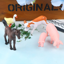 Cute DIY Animal Farmland Worker Pig Horse Cow Duck Model figurine Goat home decor miniature fairy garden decoration accessories