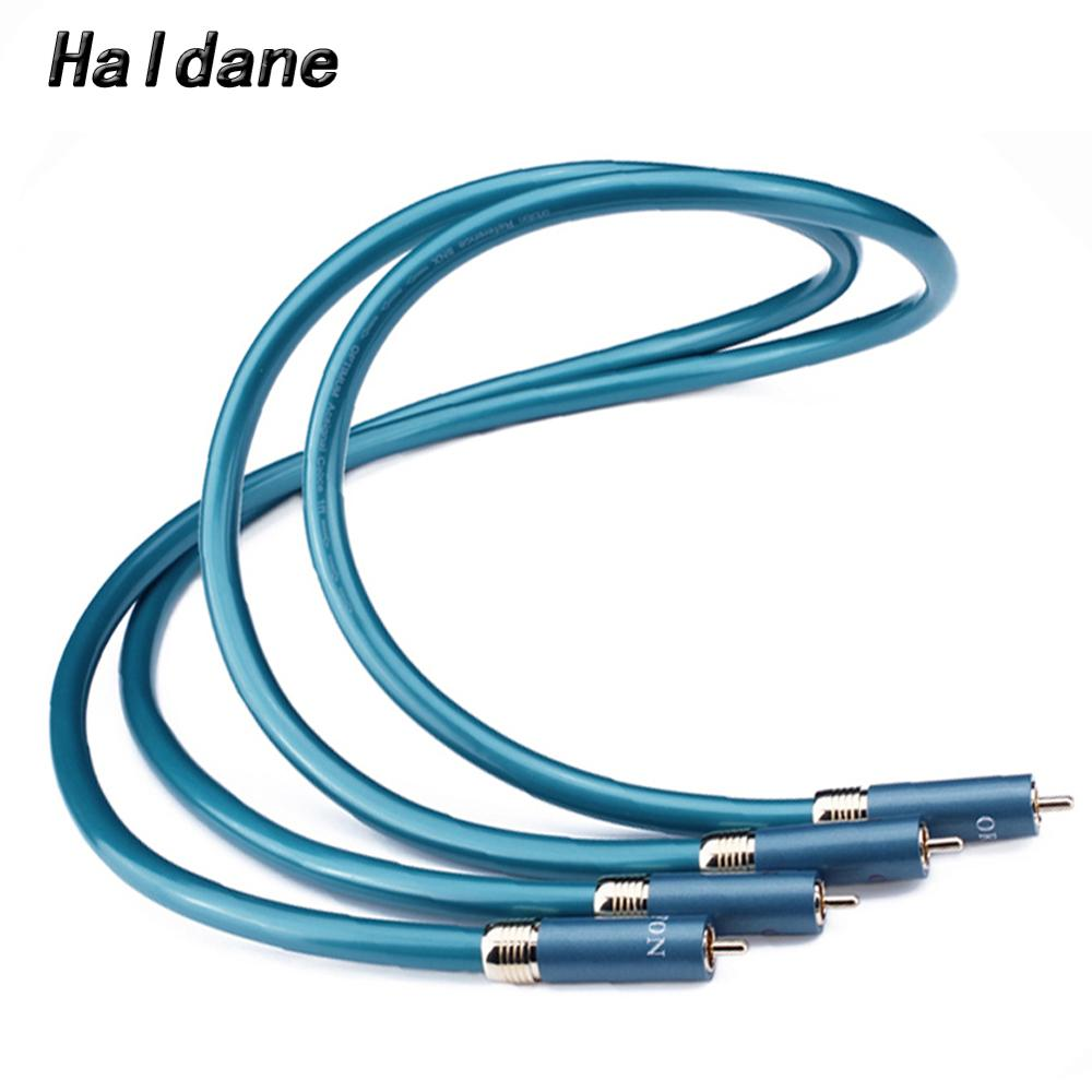Hifi Hi-end CD Amplifier Interconnect 2RCA to 2RCA Male Audio Cable