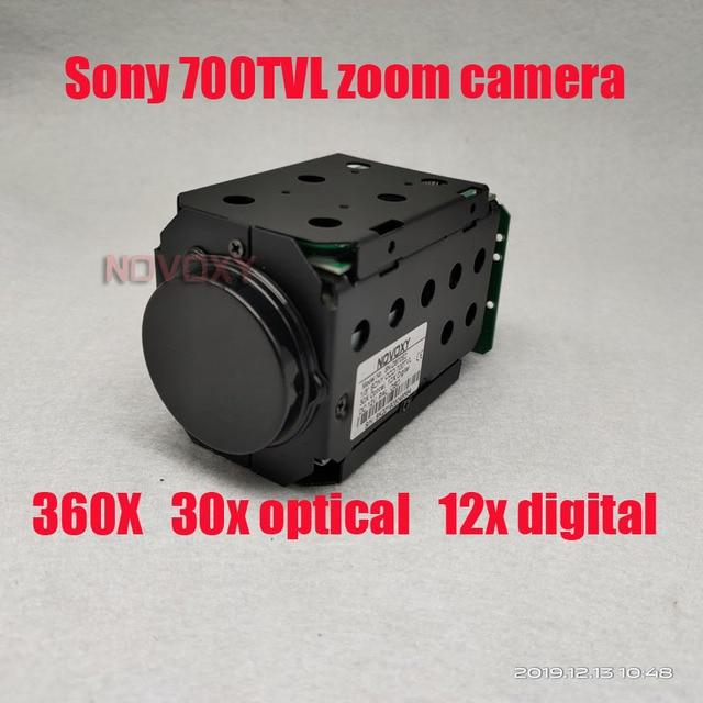 "NOVOXY 360X 1/3 ""700TVL Sony CCD 30x 18X אופטי 12x דיגיטלי ICR CCTV בלוק מצלמה מודול עם שליטת לוח עדשה"