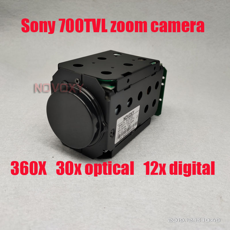 "NOVOXY  360X  1/3"" 700TVL Sony CCD 30x Optical 12x Digital ICR CCTV Block Camera Module With Control Board Lens Free Shipping"