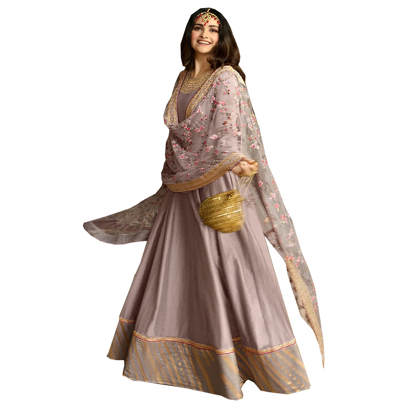 Muslim Wear for Women s Middle East Ethnic Style Floral Shawl Long Skirt Dress Islamic Clothing