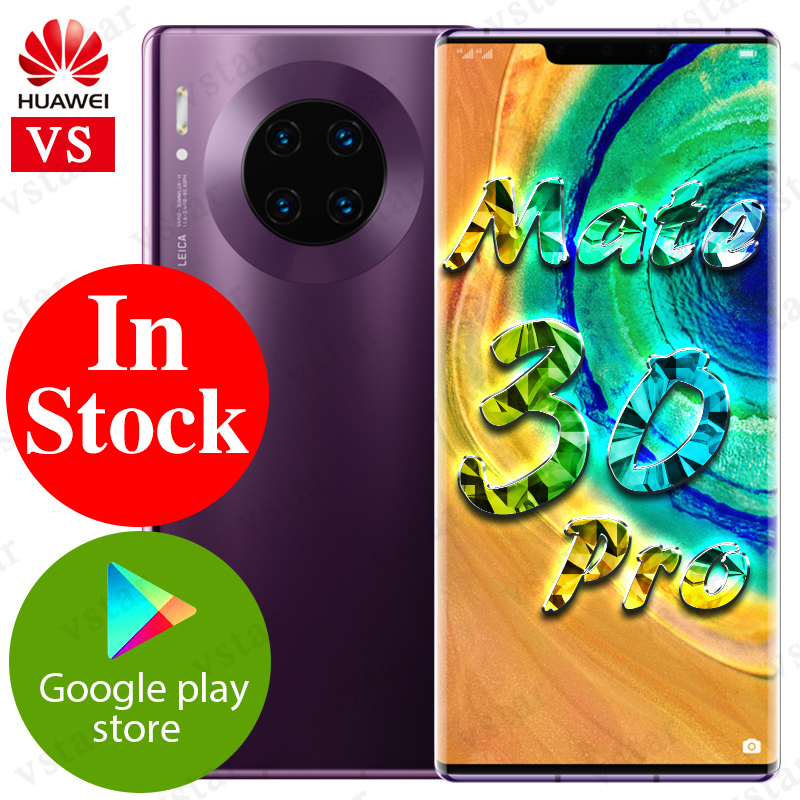 6.53 inch Original HUAWEI Mate 30 Pro Mobilephone Kirin 990 Octa Core Android 10 Gesture Sensor in screen 4500 mAh Google Play-in Cellphones from Cellphones & Telecommunications