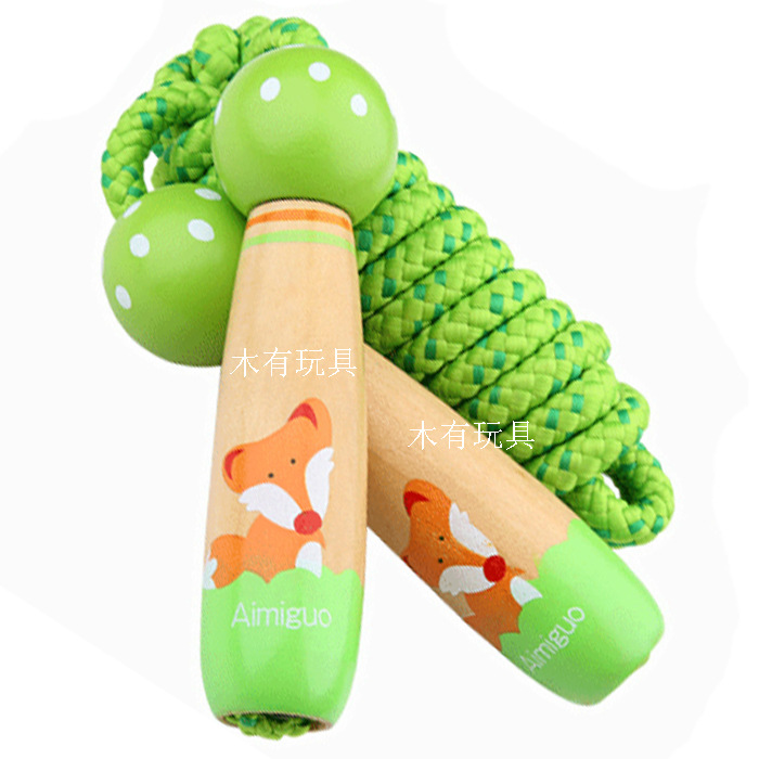 Jump Rope Children Wooden Adjustable Baby Toy Young STUDENT'S Parent And Child Children The Academic Test For The Junior High Sc