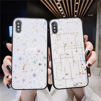 Bling lentejuelas plata línea caso para Samsung Galaxy A50 A10S S20 S8 S9 S10 A10S A30 A40 A70 A6 A7 2018 A9 Nota 10 Plus Nota 9 cubierta
