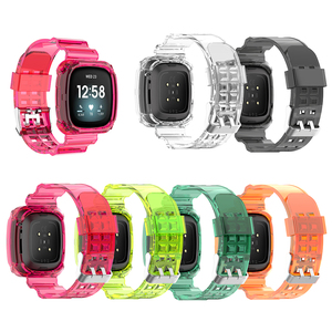 Image 2 - Clear TPU Band Case Cover Comfortable Element Elegant Watch for Fitbit Versa 3 Sense Bracelet Strap Replacement