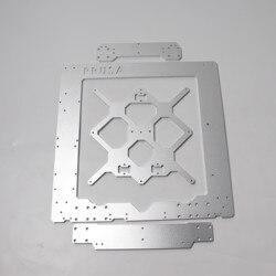 Wysokiej jakości Prusa i3 MK3/MK3S ramka ze stopu aluminium  Y przewóz  przednie i tylne zestaw płyta srebrny kolor dla Prusa i3 3d drukarki