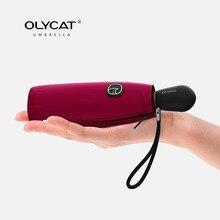 OLYCAT Colorful Mini Ombrello Pioggia Donne Cinque Sole Pieghevole Ombrello Anti UV Ombrellone Antivento Tasca Trasparente Ombrello Da Viaggio
