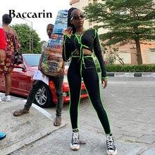 Baccarin в рубчик из кусков Женский комплект двух предметов
