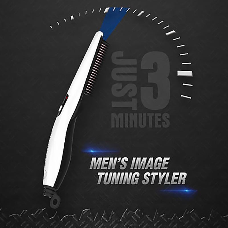Quick Beard Straightener Hair Comb Multifunctional Hair  For Man Curler Show Cap Tool Electric Heating Hair Brush 5