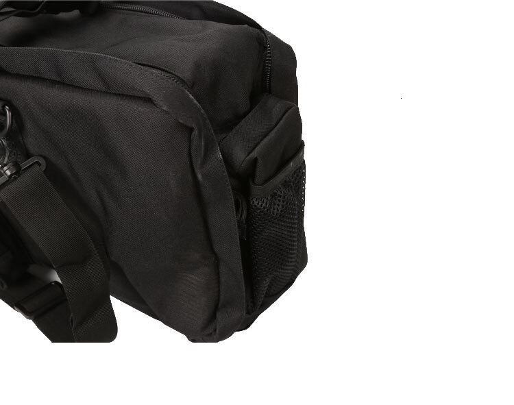 Black Tactical Bag Double Package Capacity End View