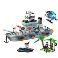 2019 Compatible ed Military Cruiser Submarine Aircrafted Carrier Sets Building Blocks Ship Boat Weapon Brick Child Kids Toys