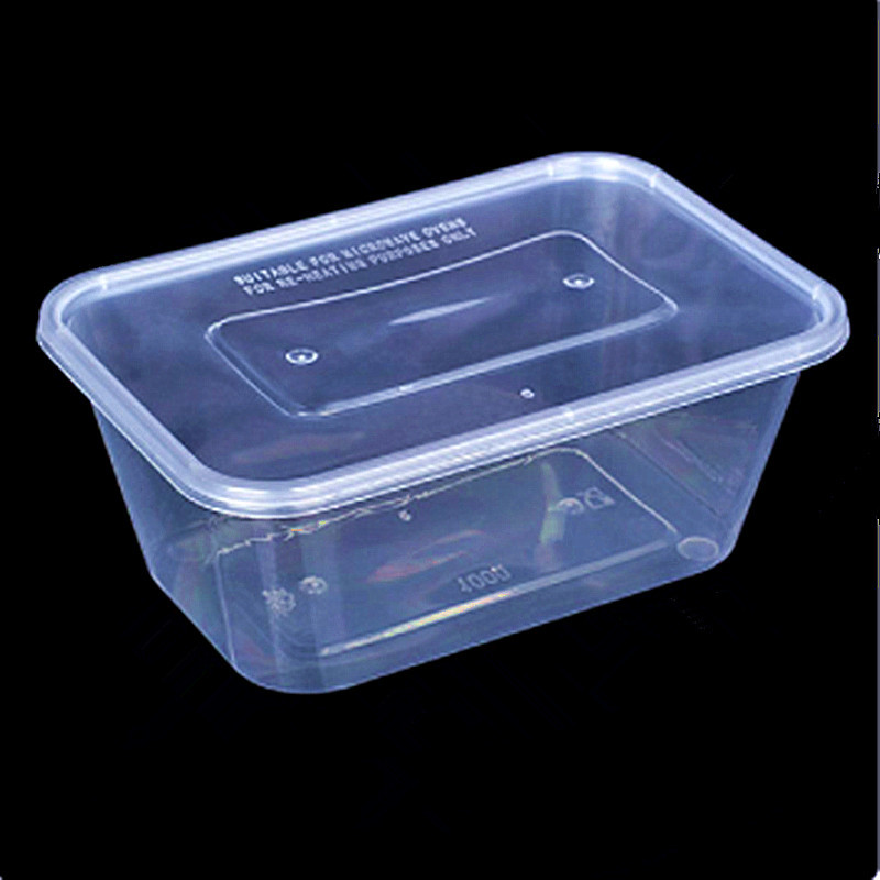 Bento Box Thickened Plastic Box Food Packaging Box Storage Container Disposable Takeaway Packaging Box Microwave Heating 3pcs