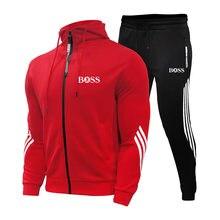Брендовый мужской спортивный костюм из 2 предметов мужская зимняя