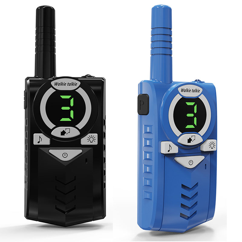 2pcs Toy Walkie Talkie Kids Radio Station 0.5W 7km Two-way Radio Transceiver With Flashlight Communicator Children Birthday Gift