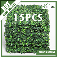 15PCS Artificial Boxwood Panels Topiary Hedge Plant, Privacy Hedge Screen UV Protected for Outdoor Indoor Garden Fence Backyard