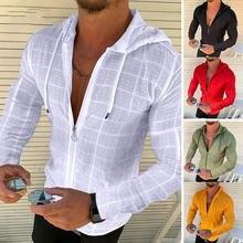 2020 Новая мужская шелковая сетка футболки Мужской сплошной