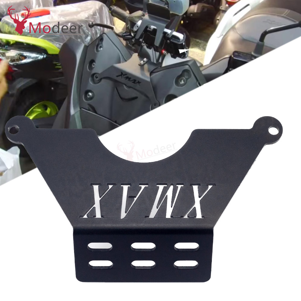Motorcycle Front <font><b>Phone</b></font> Stand <font><b>Holder</b></font> Smartphone <font><b>Phone</b></font> GPS Navigaton Plate Bracket For Yamaha <font><b>XMAX</b></font> 125 250 <font><b>300</b></font> 400 2018-2020 X-MAX image