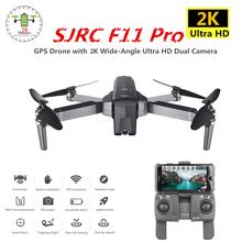 SJRC F11 Pro GPS Drone z kamerą Wifi FPV 2 K 1080 P bezszczotkowy Quadcopter 28 minut czas lotu Quadrocopter Dron VS X9 X6 B4W tanie tanio pusi Z włókna węglowego Metal Z tworzywa sztucznego Silnik bezszczotkowy 11 1 V 28 minutes Helikopter 1200 m 4 kanałów