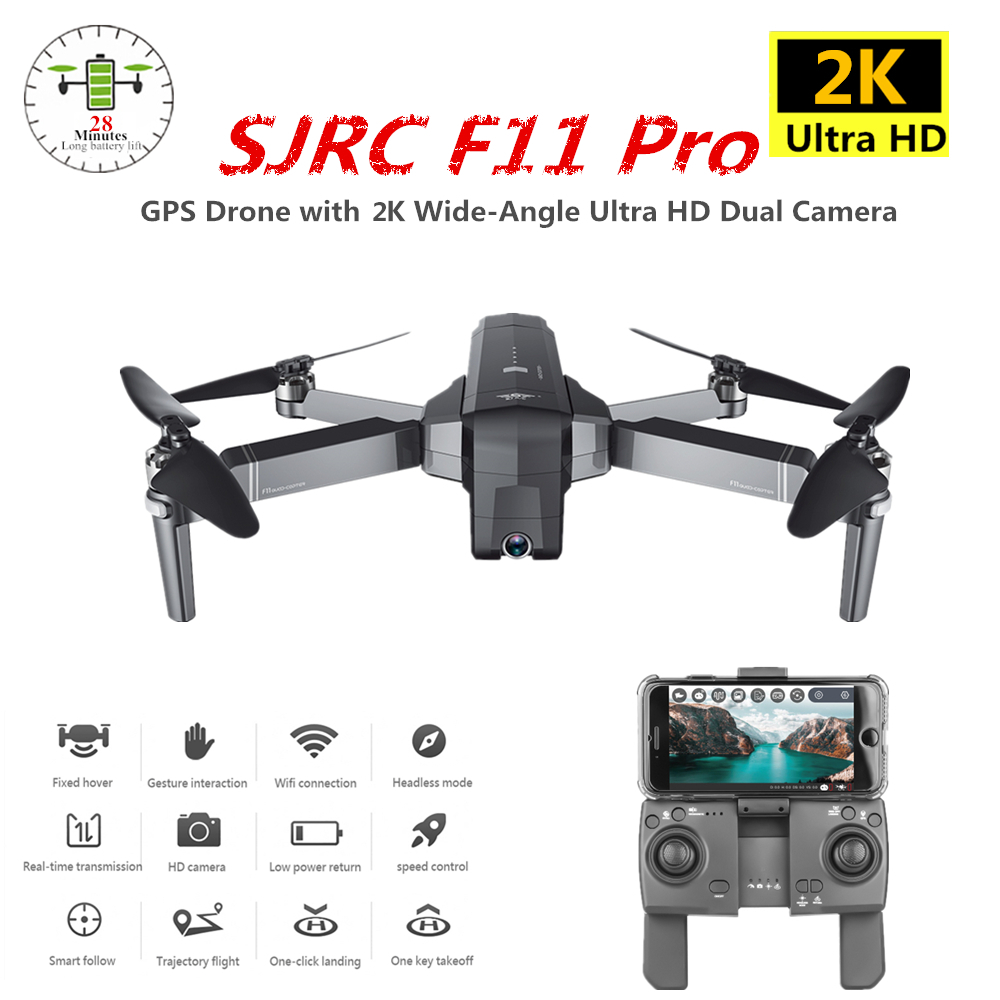 SJRC F11 Pro GPS Drone with Wifi FPV 2K/1080P Camera Brushless Quadcopter 28mins Flight Time Quadrocopter Dron VS X9 X6 B4W image