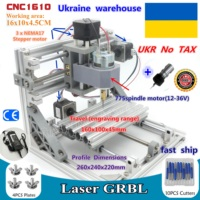 UKR CNC 1610 GRBL control DIY mini CNC machine working area 160x100x45mm 3 Axis Pcb Milling machine,Wood Router,cnc router v2.4