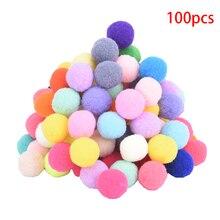 Pom-Pom Keychain Soft for DIY Garment Handcraft 10mm 20mm 100pcs Pompom-Balls Mixed Round-Shaped