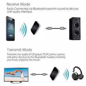 Image 5 - Upgrade B6 Bluetooth 5.0 Transmitter Receiver Wireless Audio Adapter For PC TV Headphone Car 3.5mm 3.5 AUX Music Receiver Sender