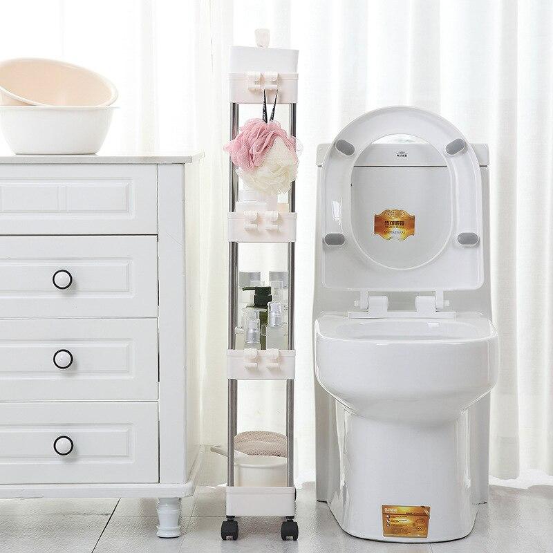 Кухня узкий шкаф ванная комната небольшой зазор стеллаж для хранения четырехэтажный гостиная пол перегородка Рамка для дома ванной шкафа