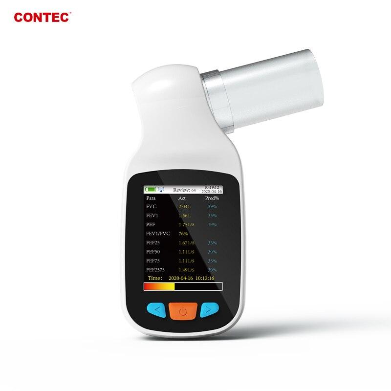 SP70B Digital Spirometer Lung Volum Device Respiratory Free Mouthpieces FVC FEV
