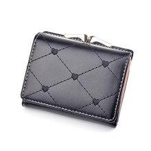2019 Women Short Wallets Mini Cute Wallet Leather Zipper Purses Female Purse Clutch Girl Card Sets