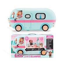 Lol original surpresa bonecas brinquedos conjunto 2-em-1 glamper menina lols omg irmãs boneca diy jogar casa crianças brinquedos para meninas presentes de aniversário