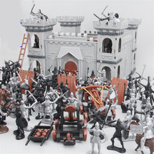90pcs Medieval Knight Catapult Castle Soldiers Infantry Action Figures Castle Soldiers Model Assembled Building Military toy set