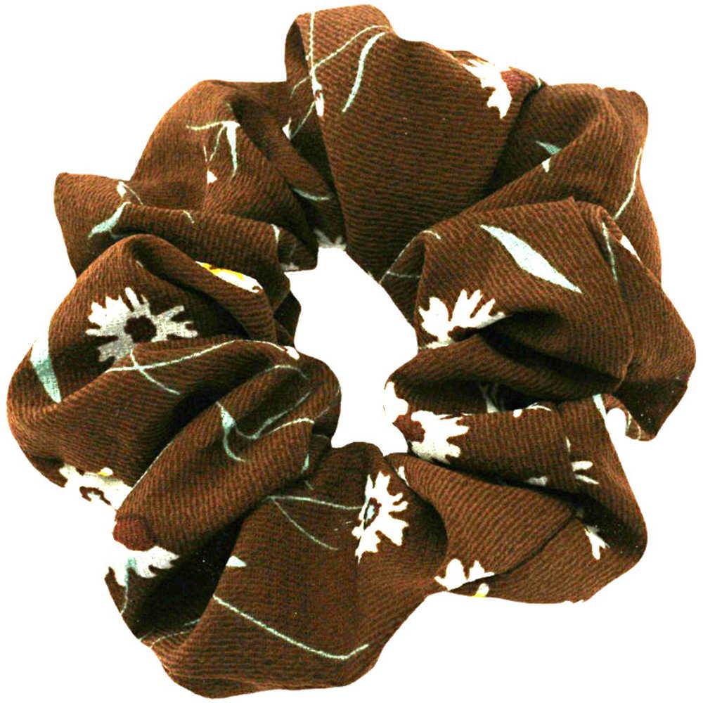 New Fashion Scrunchies Women Hair Ties Elastic Hair Bands Girls Headwear Ponytail Holder Scrunchy Print Hair Accessories