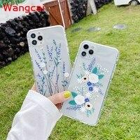 Flores suave transparente caso Y7P Y6P Y6S Nova 7 Pro 7i 7 6 SE 4e 3 3e 3i P30 P20 Pro Lite Simple TPU transparente cubierta bonitas