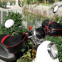 Motorrad Roller Lenker Muffs Wasserdichte Winter Hand Warm Abdeckungen handschuhe für honda yamaha vespa piaggio kawasaki harley Bmw
