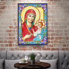 Exquisite DIY Special Shaped Diamond Painting Religious Embroidery Craft Kit Home Bedroom Wall Decor Children Manual Tools(China)