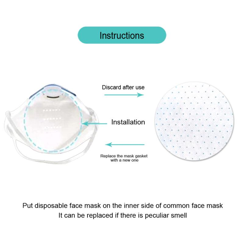 Disposable Face Mask Gasket Protective Mask Respirator FFP3 Mask Filter Dust Mouth Face Mask PM2.5 Mouth Cover Dust Masks TSLM2 5
