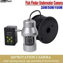 F08S קרח דיג מצלמה 20 M/50 M/100 M 1000TVL דגי Finder מתחת למים 18PCS LED 360 תואר מצלמה לדיג עם מצלמה