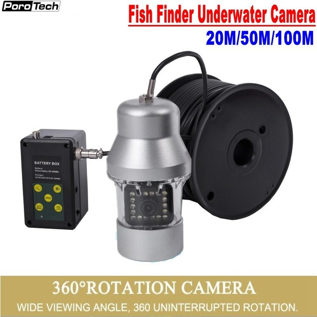 F08S Ice Fishing Camera 20M/50M/100M 1000TVL Fish Finder Underwater 18PCS LED 360 degree Camera For Fishing with camera