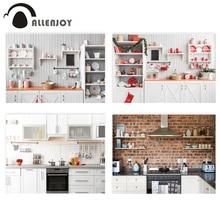 Allenjoy Fondo de fotófono de cocina de Navidad, armario de madera, estudio de fotografía, niño, cocinero, Fondo de fotografía