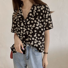 HziriP Daisy Korean Loose Gils Summer Thin Chiffon Sunscreen 2020 Hot Casual Women Short Sleeves All