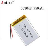 Melhor marca da bateria 3.7 v 503048 053048 750 mah mp3 polímero de lítio mp4 bluetooth gps fone ouvido estéreo sem fio tablet bateria