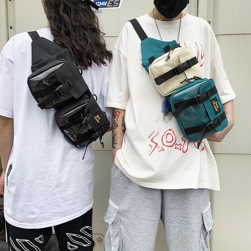 Streetwear Unisex Waist Bag Chest Bag Functional Tooling Hip Hop Pack Removable Men Outdoor Waist Pack Shoulder Crossbody Bags