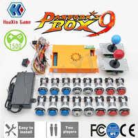 Jugador 2 Original caja de Pandora 9 Kit copia Joystick SANWA cromo de empuje con led Botón para máquina Arcade DIY CASA DE Manual