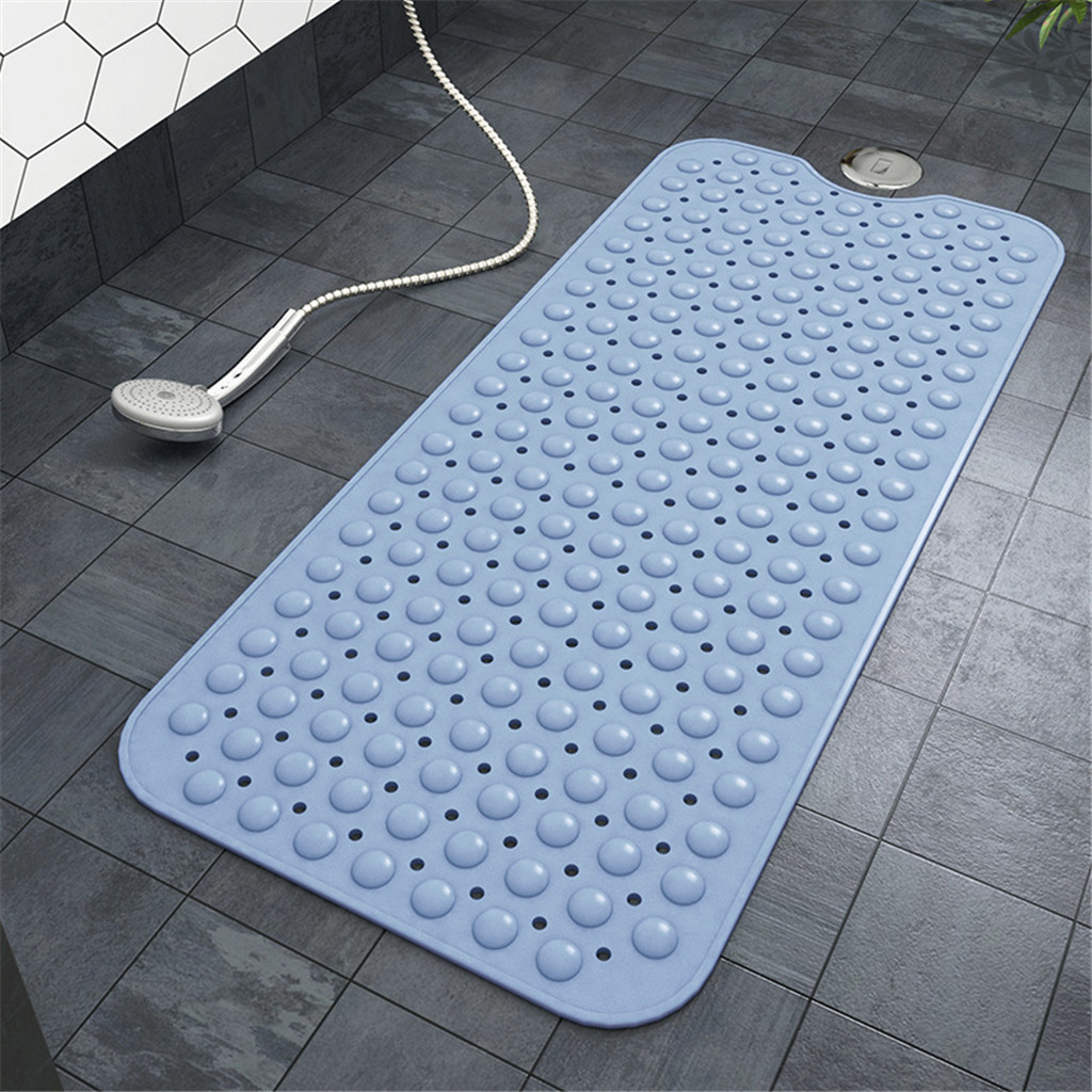 Large Silicone Massage Rubber Non Slip Bathroom Bath Shower Mat Strong Suction